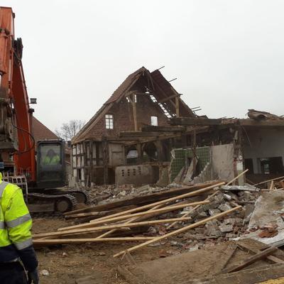 Abbrucharbeiten Gebäude